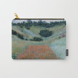 """Claude Monet """"Poppy Field in a Hollow near Giverny"""" Carry-All Pouch"""