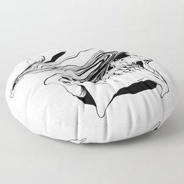 Skull (Liquify) Floor Pillow