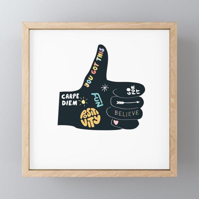 Inspirational Thumbs Up Framed Mini Art Print