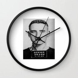 Neal Cassady Mug Shot (Front) Wall Clock