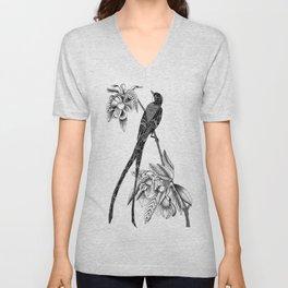 Long Tailed Bird Unisex V-Neck