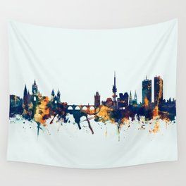 Prague (Praha) Czech Republic Skyline Wall Tapestry