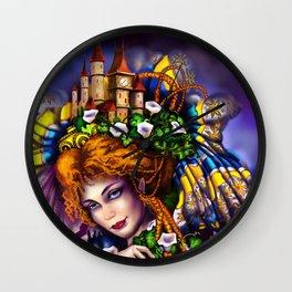 Fairy love and magic Wall Clock