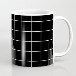Grid Pattern Square Line Stripe Black White #12 Stripes Lines Spring Summer Coffee Mug
