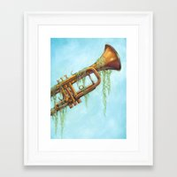 trumpet Framed Art Prints featuring Trumpet by dangercat