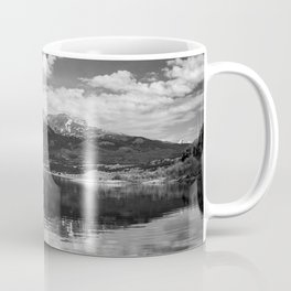 Twin Lakes - Mount Elbert at Twin Lakes Colorado in Black and White Coffee Mug
