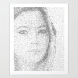 beautiful girl Art Print