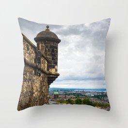View of Edinburgh, Scotland from Edinburgh Castle Throw Pillow