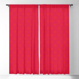Scarlet Red on Crimson Red Snowflakes Blackout Curtain