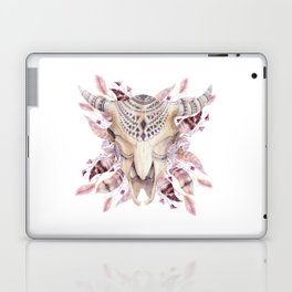 Cow skull with feathers Laptop & iPad Skin