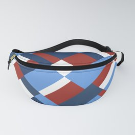Map 45 Red White and Blue Fanny Pack