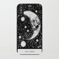 tarot iPhone & iPod Cases featuring Moon Tarot by Corinne Elyse