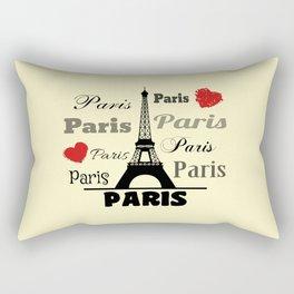 Paris text design illustration 2 Rectangular Pillow