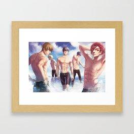 Free! Swimming Anime Framed Art Print