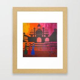 Indian Sunset Framed Art Print