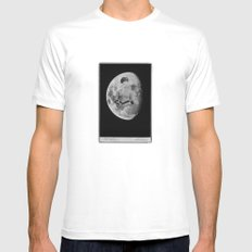 space face White MEDIUM Mens Fitted Tee