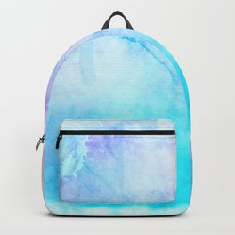 Turquoise Pink Watercolor Texture Backpack