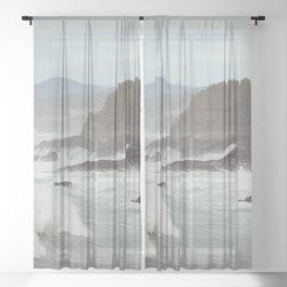 Crashing Waves Sheer Curtain
