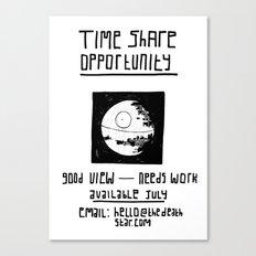 Black Death Star 'Time Share' digital print Canvas Print