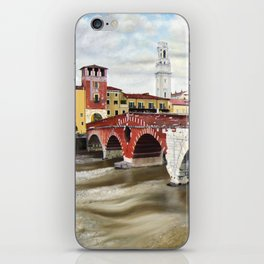 Lovers Bridge in Verona iPhone Skin