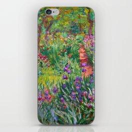 Claude Monet - The Iris Garden At Giverny iPhone Skin