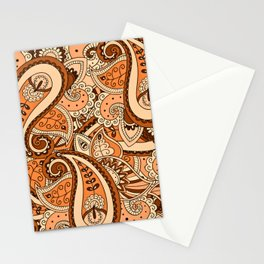 African Pattern No22 Brown Stationery Cards