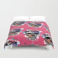 kindle Duvet Covers featuring 126 by ALLSKULL.NET