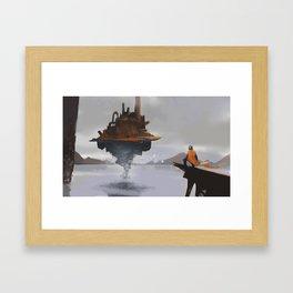 Island Castle Framed Art Print