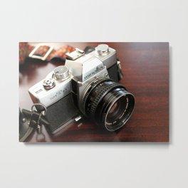 Vintage Minolta Camera Metal Print