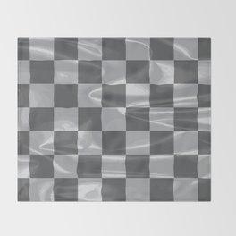 Chequered Silk Flag Throw Blanket