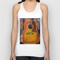 guitar Tank Tops featuring Guitar by Michael Creese