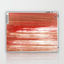 Medium carmine abstract watercolor Laptop & iPad Skin