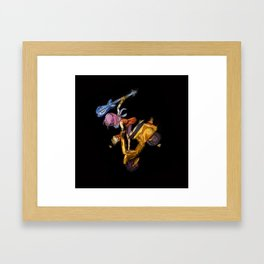 That yellow Vespa! Framed Art Print