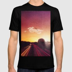 Autobahn Mens Fitted Tee LARGE Black