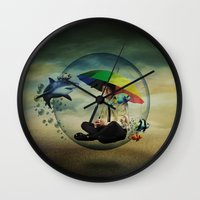 wizard Wall Clocks featuring Wizard by Tony Vazquez
