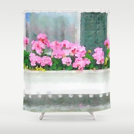 Geraniums - Another View Shower Curtain