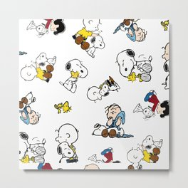 snoopy wrapping papers book Metal Print