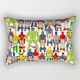 Superhero Butts Rectangular Pillow