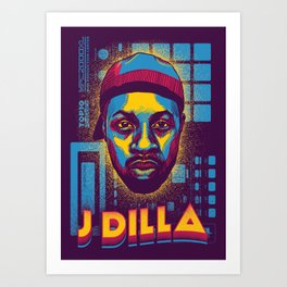 J Dilla ( Top 10 Producers series ) Art Print