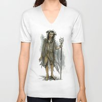 tina fey V-neck T-shirts featuring death fey by laya rose