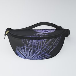 Jellyfish in Black and Purple Fanny Pack