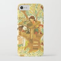 woods iPhone & iPod Cases featuring Our House In the Woods by Teagan White