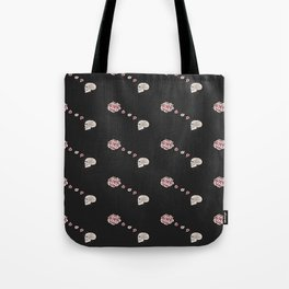 Flourish black pattern Tote Bag