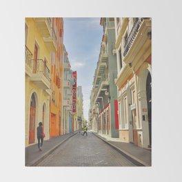 Streets of Old San Juan Throw Blanket