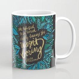 Zelda Fitzgerald – Blue on Black Coffee Mug