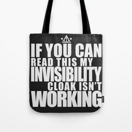 Invisibility Cloak Tote Bag