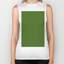 Tropical Jungle Green Biker Tank
