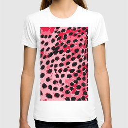 Cheetah Spots in Red and Pink T-shirt