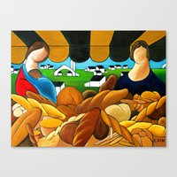 bread Canvas Prints featuring BREAD by William Cain