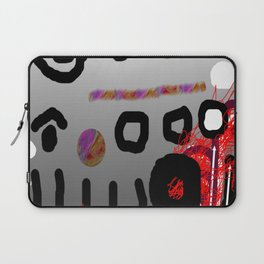 Black Line and Circle Laptop Sleeve